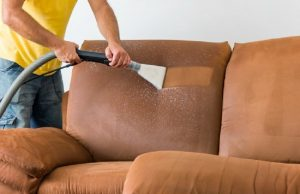 clean the faux suede couch